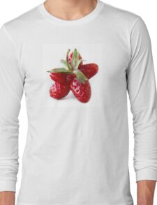 Funny strawberry Long Sleeve T-Shirt