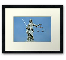 Lady Justice Dublin Framed Print