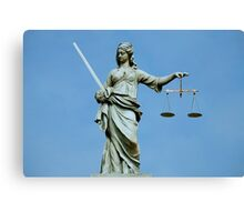 Lady Justice Dublin Canvas Print