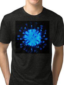 Blue glossy glass sculpture Tri-blend T-Shirt