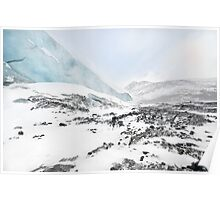 Toe of the Athabasca Glacier and Wilcox Peak Poster