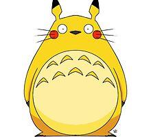 Totoro Pikachu by crabro