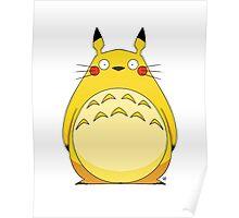 Totoro Pikachu Poster