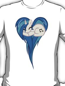 Vinyl Scratch DJ Pon3 Heart T-Shirt