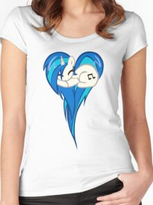Vinyl Scratch DJ Pon3 Heart Women's Fitted Scoop T-Shirt