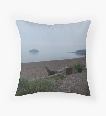 Nova Scotia Beach Throw Pillow