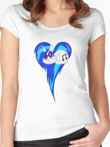 Vinyl Scratch DJ Pon3 Heart W/Glasses Women's Fitted Scoop T-Shirt