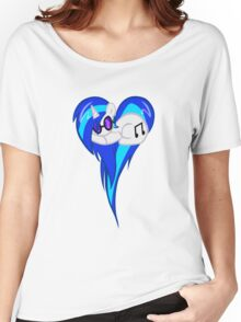 Vinyl Scratch DJ Pon3 Heart W/Glasses Women's Relaxed Fit T-Shirt