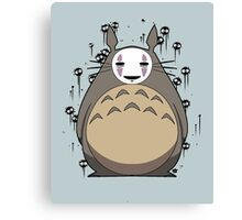 Totoro No Face Canvas Print