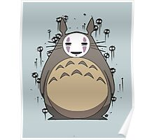 Totoro No Face Poster