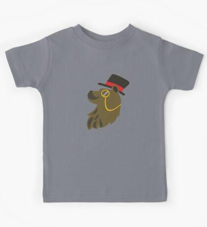 Gentleman Bear Bust Kids Tee