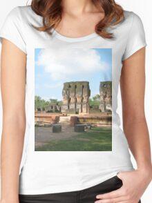 a sprawling Sri Lanka landscape Women's Fitted Scoop T-Shirt