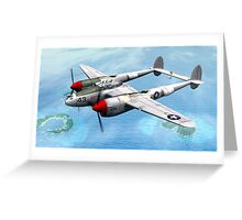Lockheed P-38 Lightning  Greeting Card
