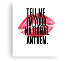 National Anthem Lips Canvas Print