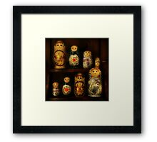 The Matryoshka Party Framed Print