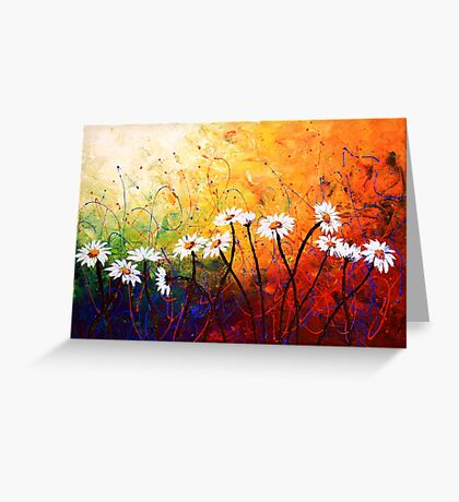 The Daisy Dance Greeting Card