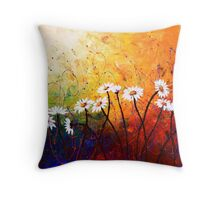 The Daisy Dance Throw Pillow