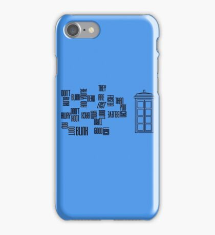 Don't Blink - Twisted Type iPhone Case/Skin