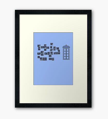 Don't Blink - Twisted Type Framed Print