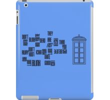 Don't Blink - Twisted Type iPad Case/Skin