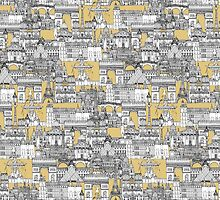 Paris toile gold by Sharon Turner