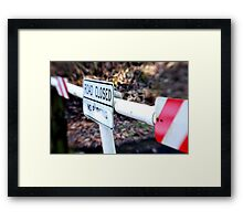 Road Closed Framed Print