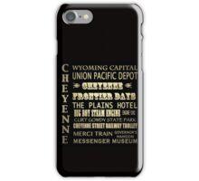 Cheyenne Wyoming Famous Landmarks iPhone Case/Skin