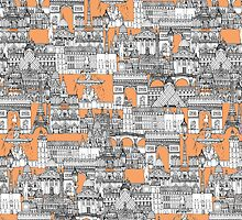Paris toile cantaloupe by Sharon Turner