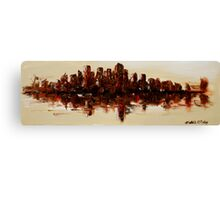 The Dark City on the Water Canvas Print