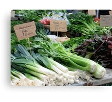 Veges at the market Canvas Print