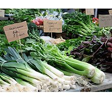Veges at the market Photographic Print