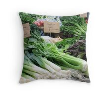 Veges at the market Throw Pillow