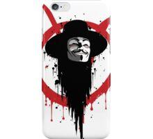 V for Vendetta Ink iPhone Case/Skin