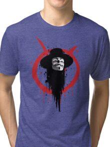 V for Vendetta Ink Tri-blend T-Shirt
