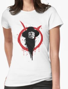 V for Vendetta Ink Womens Fitted T-Shirt