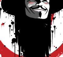 V for Vendetta Ink Sticker