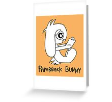 Paperback Bunny Greeting Card