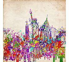New york landmarks Photographic Print