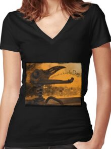 Apocolyptic Dash Bauble Women's Fitted V-Neck T-Shirt