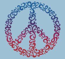 Floral Peace Symbol Kids Tee