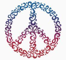 Floral Peace Symbol by Lisann