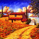 Tuscany Country Road Home by sesillie