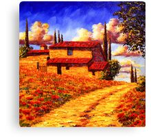 Tuscany Country Road Home Canvas Print
