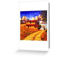 Tuscany Country Road Home Greeting Card