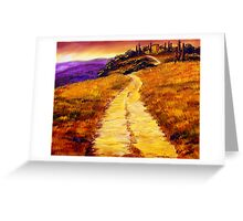 Villa on the Hill Greeting Card