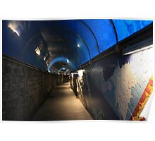 Blue Tunnel Poster