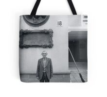 Man and Broom, Ukraine Tote Bag