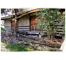 Old rail shed Huon HDR Poster