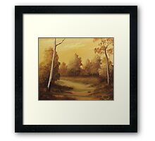 Country Road Sunset Framed Print