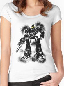 Smiley optimus Women's Fitted Scoop T-Shirt